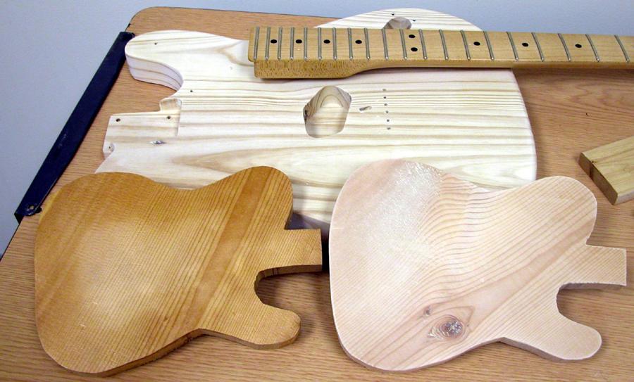 UV curing - guitar in progress
