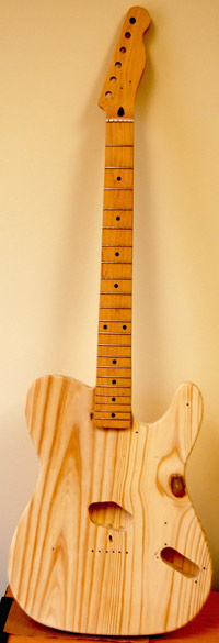 Telecaster with new neck