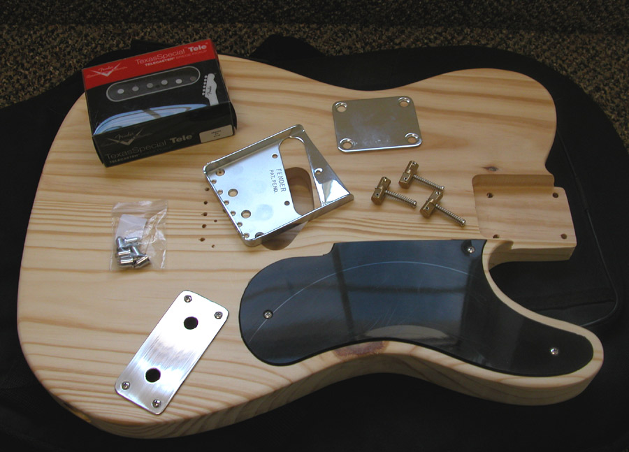 Parts to build a Fender Esquire / Telecaster type guitar